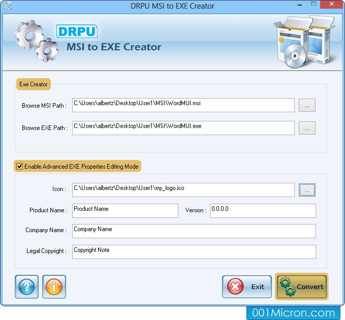 MSI to EXE setup creator program convert windows installer