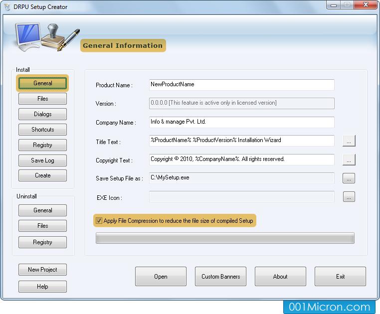 Setup installer software installation wizard exe setup